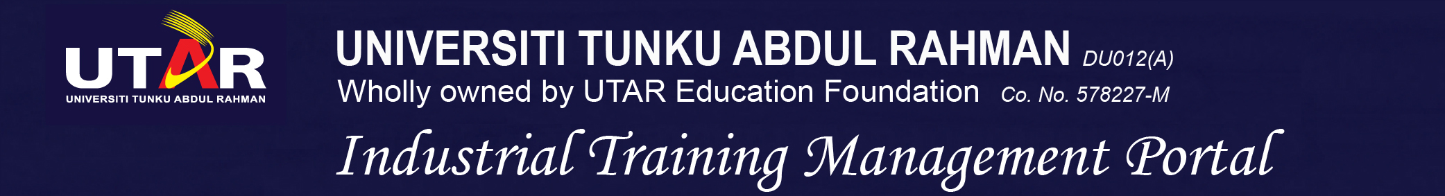 Universiti Tunku Abdul Rahman Industrial Training Management Portal